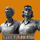 sheffield women of steel sculpture by Simon-dell