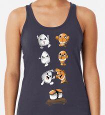 Camiseta con espalda nadadora Fusión de sushi