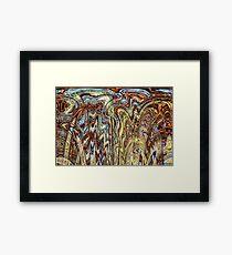 Scramble - Digital Abstract Expressionism Framed Print