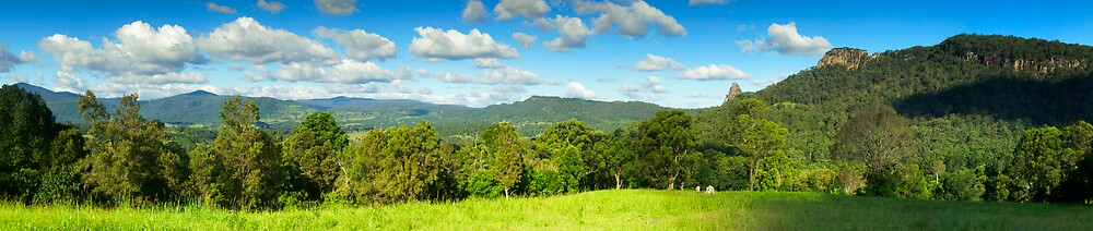 Nimbin Rocks from Mountain Top by Nimbin Panoramics by akaphot