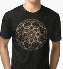 Mandala Night Blue Tri-blend T-Shirt