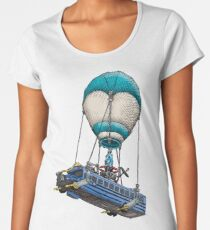Fortnite Bus Drawing, Colored version Women's Premium T-Shirt