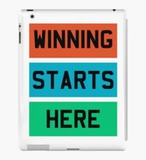 Winning Start iPad Case/Skin