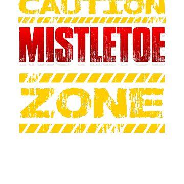 Caution Mistletoe Zone by Katnovations
