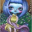 Lowbrow Illustration - Painting: China Doll by simonehah