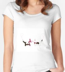 corgis love Women's Fitted Scoop T-Shirt