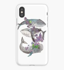 Spring whales and lilac - 4erta iPhone Case/Skin