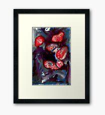 lava lumps Framed Print