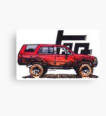 1st Gen 4Runner TRD - Red Canvas Print