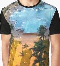 Aruba, resort, spa, health resort, 2017, pool, palm trees, hotel building Graphic T-Shirt