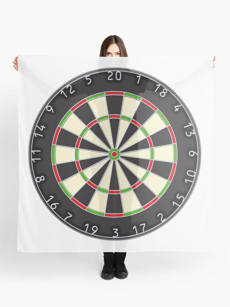 Dart Board, Darts, Arrows, Target, Bulls Eye, Pub, Game, On white | Scarf
