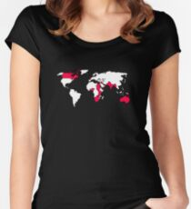 The British Empire - White Countries Women's Fitted Scoop T-Shirt