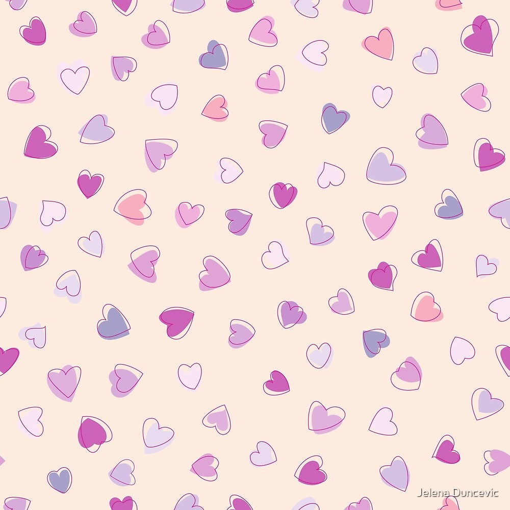 Love, Romance, Hearts - Blue Purple Pink  by sitnica