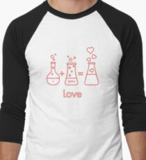 Chemistry of love. Valentine's Day Men's Baseball ¾ T-Shirt