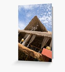 Straw Roof Greeting Card