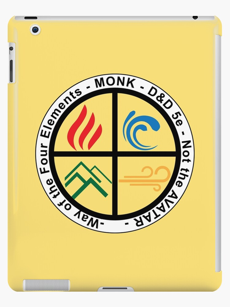 'D&D Sub-classes: Way of the Four Elements' iPad Case/Skin by 3DApparel