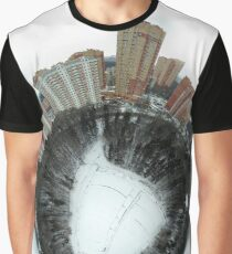Little planet panoramic aerial view of Chertanovo district, Moscow, Russia Graphic T-Shirt