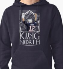 Tom Brady King Of The North New England Patriots Football Shirt Pullover Hoodie