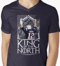 Tom Brady King Of The North New England Patriots Football Shirt Men's V-Neck T-Shirt