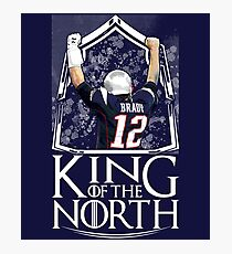 Tom Brady King Of The North New England Patriots Football Shirt Photographic Print