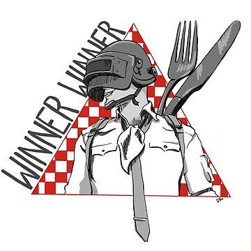 Winner Winner Chicken Dinner PUBG by Luxfatale