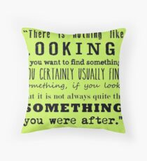 J.R.R Tolkien: The Hobbit- Quote Throw Pillow