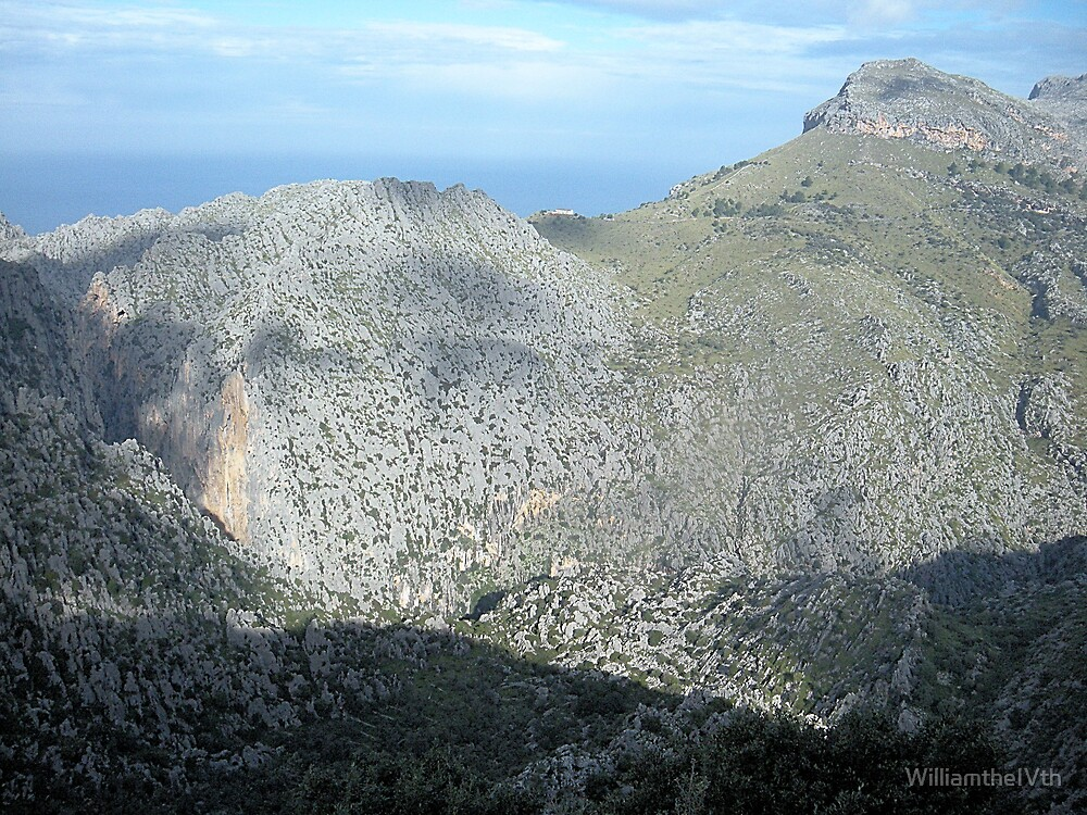 Mountains above Soler, Mallorca by WilliamtheIVth