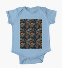 purple and orange watercolor orchids One Piece - Short Sleeve