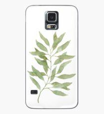 Green watercolor eucalyptus branch pattern Case/Skin for Samsung Galaxy