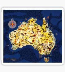 Australian Australia Outback Fauna Flora Sticker
