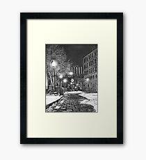 An alleyway in winter Framed Print