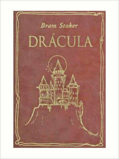 Dracula Book Cover Art : Quot bram stokers dracula original book cover art prints by