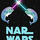 Nar Wars Narwhales Narwals Narwhals Funny Parody With Stars Save the Narwhals Graphic T Shirt by DesIndie
