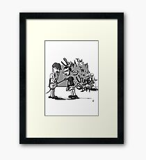 Always the drummers Framed Print