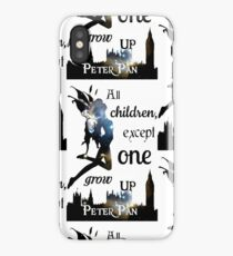 Peter Pan Print - 'All Children Except One Grow Up' iPhone Case/Skin