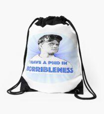 PhD in HORRIBLENESS Drawstring Bag