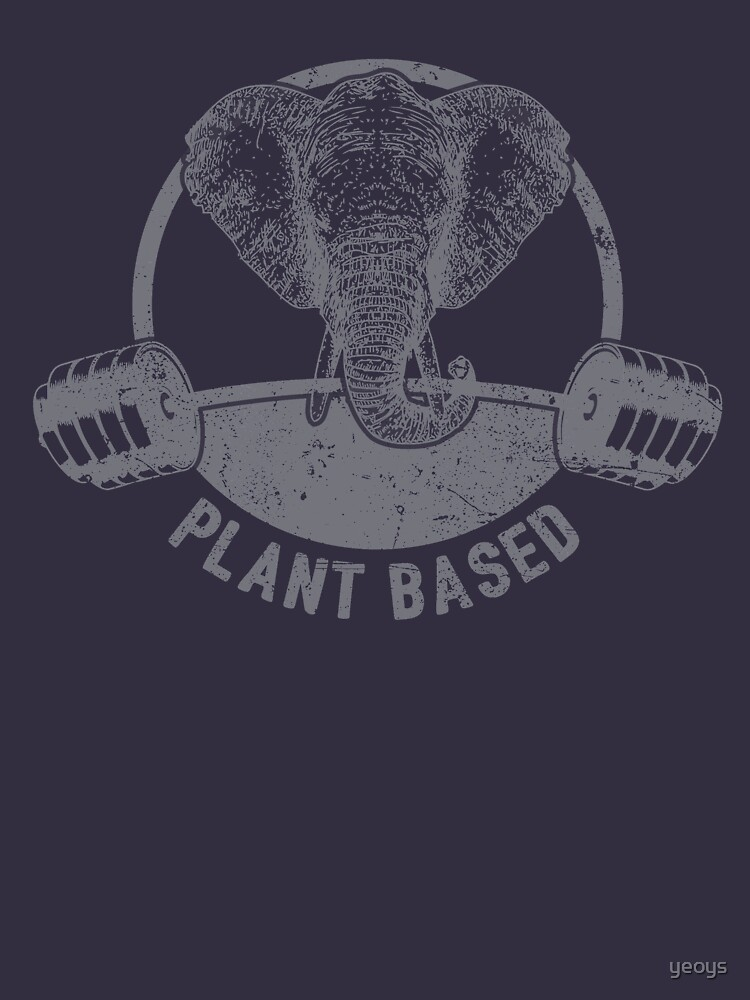 Plant Based Vegan Elephant - Funny Veganism Quote Gift von yeoys