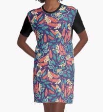 Indigo & Burnt Sienna Graphic T-Shirt Dress