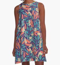 Indigo & Burnt Sienna A-Line Dress