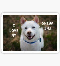shiba inu cream love with picture Sticker