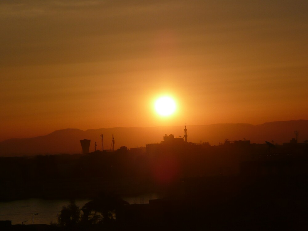 Sunrise Over The River Nile by dgethin