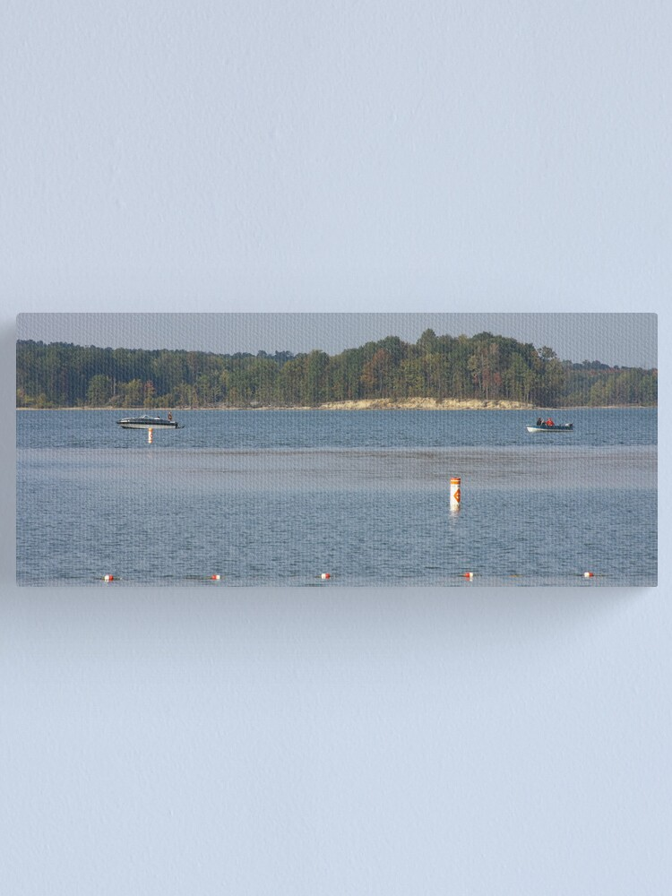 Alternate view of Boats on a lake Canvas Print