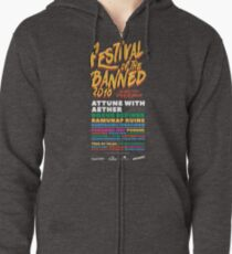 Festival of the Banned 2018 - Dark Theme Zipped Hoodie