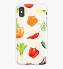 Watercolor vegetables pattern iPhone Case/Skin