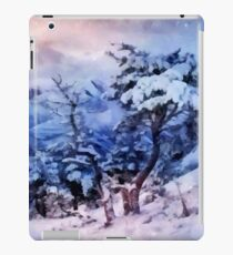 Winter in the mountains iPad Case/Skin