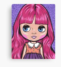 Pink Blythe Doll Canvas Print