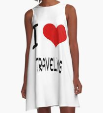 I Love Hobby Present bday _TRAVELING A-Line Dress