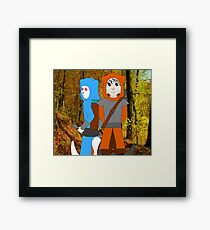 Fantasy Anthro 1 - Theif Ferret Brothers Framed Print