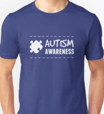 Autism Awareness in White T-Shirt