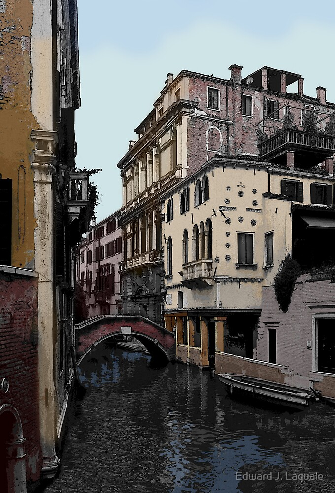 """""""PEACEFUL CANAL"""" by Edward J. Laquale"""